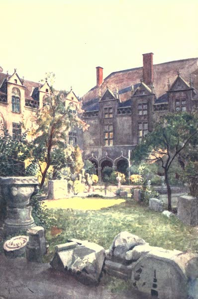 Belgium, Painted and Described - The Episcopal Palace-Inner Court, Liege (1908)