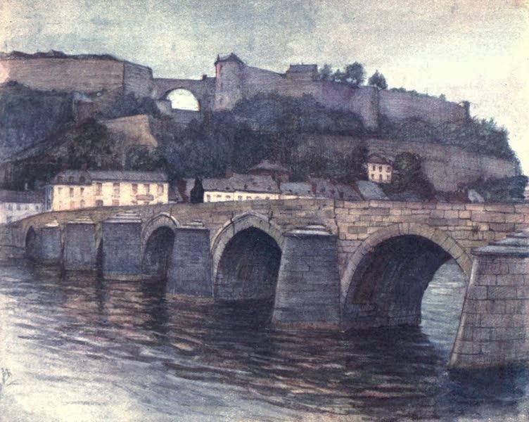 Belgium, Painted and Described - Pont de Jambes et Citadelle, Namur (1908)