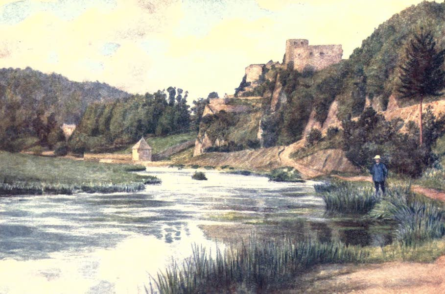 Belgium, Painted and Described - Chateau de Bouillon, in the Semois Valley (1908)