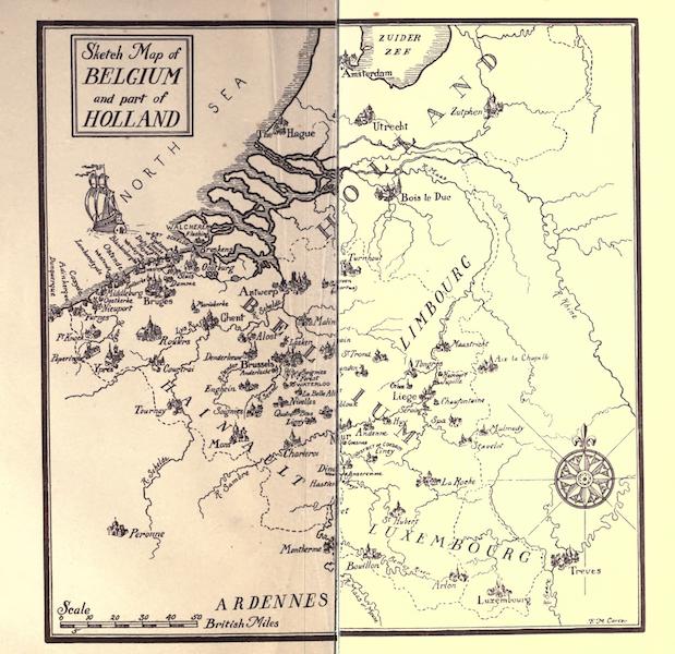 Belgium, Painted and Described - Sketch Map of Belgium (1908)