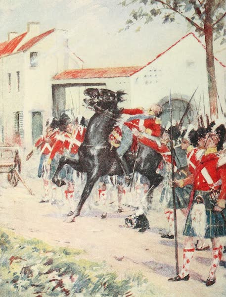 Belgium Past and Present - The Gordons at Quatre Bras (1920)
