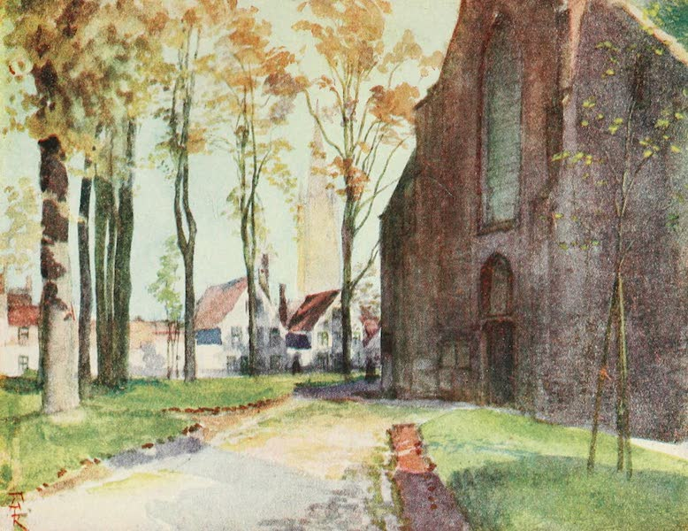 Belgium Past and Present - The Begutnage, Bruges (1920)