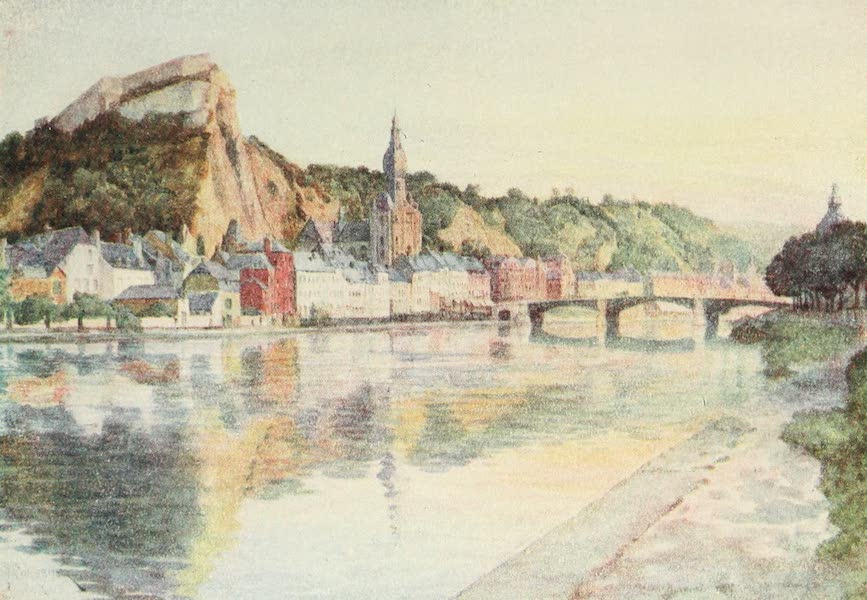 Belgium Past and Present - General View of Dinant (1920)