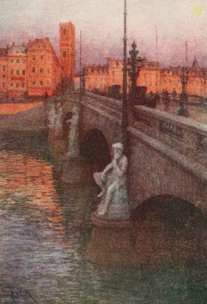 Belgium Past and Present - Pont des Arches, Liege (1920)