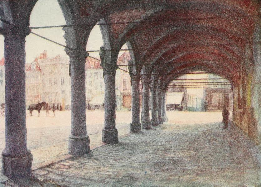 Belgium Past and Present - Arcade under the Nieuwerk, Ypres (1920)
