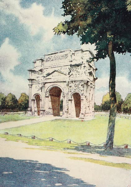 Belgium Past and Present - The Roman Arch at Orange, in the South of France (1920)