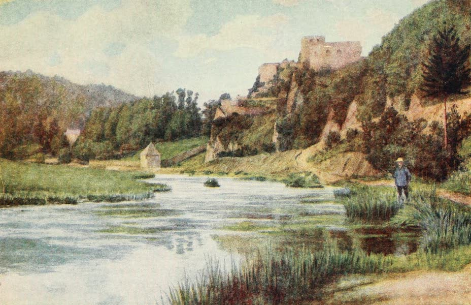 Belgium Past and Present - Chateau db Bouillon in the Semois Valley (1920)