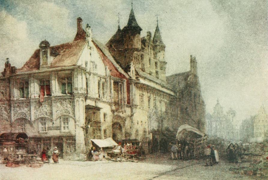 Belgium Past and Present - The Market Place, Malines (1884) (1920)