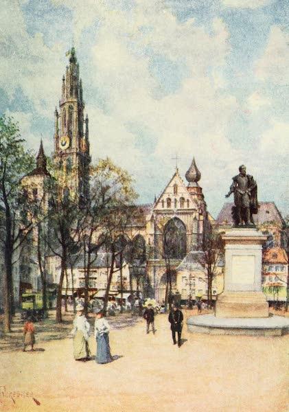 Belgium Past and Present - The Place Verte, Antwerp (1920)