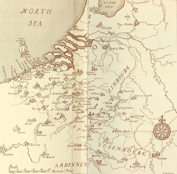 Belgium Past and Present - Sketch Map of Belgium (1920)