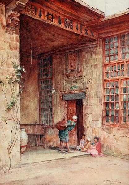 Below the Cataracts - Courtyard in a Cairene House (1907)