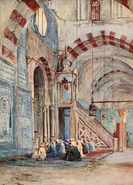 Below the Cataracts - Interior of the Blue Mosque, Cairo (1907)