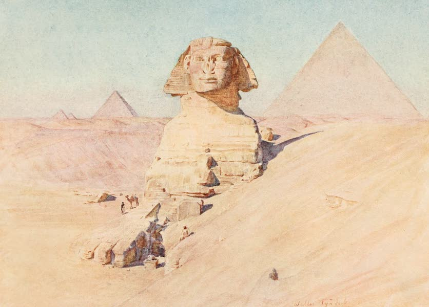 Below the Cataracts - The Sphinx and Pyramids of Gizeh (1907)