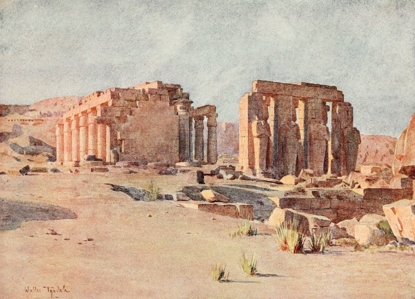 Below the Cataracts - The Ramesseum at Thebes (1907)