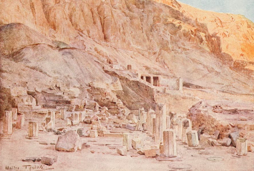 Below the Cataracts - Ruins of the Temple of Mentuhotep at Thebes (1907)
