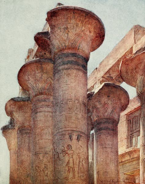 Below the Cataracts - Capitals in Hypostyle Hall, Karnak (1907)