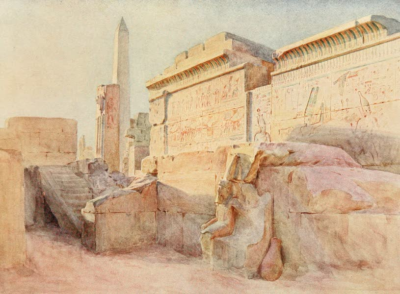 Below the Cataracts - The Sanctuary at Karnak (1907)