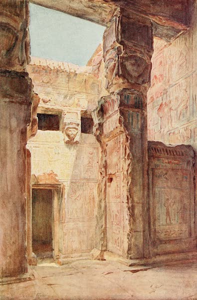 Below the Cataracts - The Court of the Kiosque at Dendera (1907)