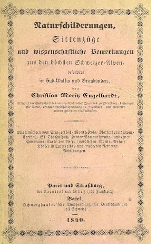 Aquatint & Lithography - Bemerkungen aus den hochsten Schweizer-Alpen