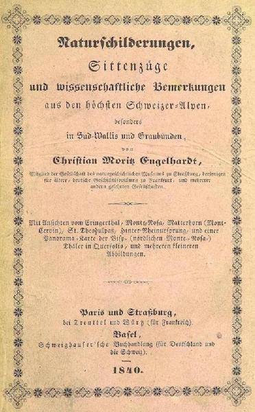 Bemerkungen aus den hochsten Schweizer-Alpen - Front Cover (1840)