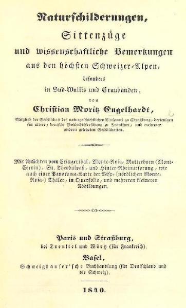 Bemerkungen aus den hochsten Schweizer-Alpen - Title Page (1840)