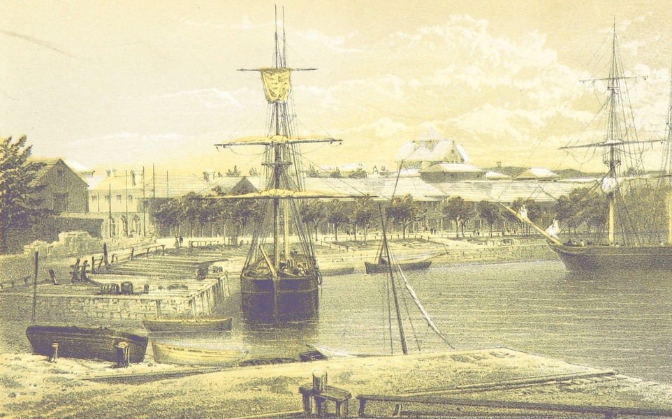 Bermuda, a Colony, a Fortress, and a Prison - West End of Hamilton Warf (1857)