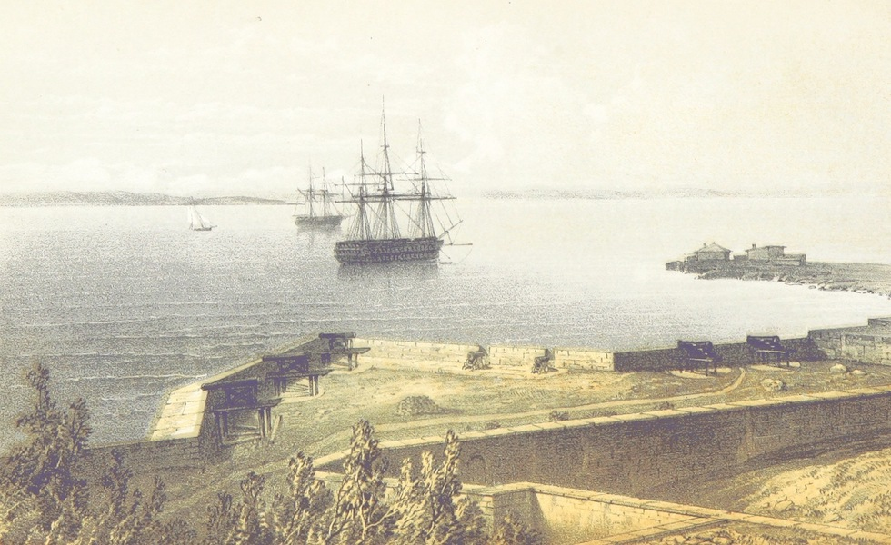 Bermuda, a Colony, a Fortress, and a Prison - HMS Nile; Grassy Bay from the Commissioner's Hous (1857)