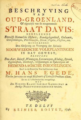 Dutch - Beschryving van Oud-Groenland