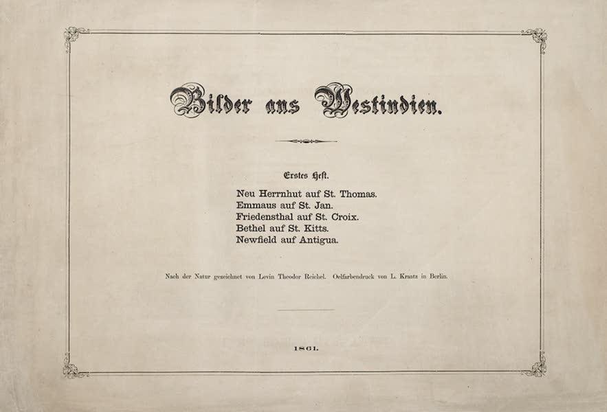 Bilder ans Westindien - Title Page - Part I (1861)