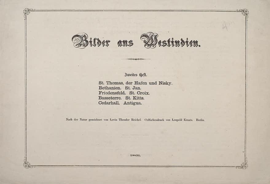 Bilder ans Westindien - Title Page - Part II (1861)