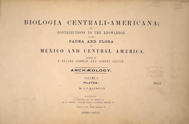 English - Biologia Centrali-Americana Atlas Vol. 1