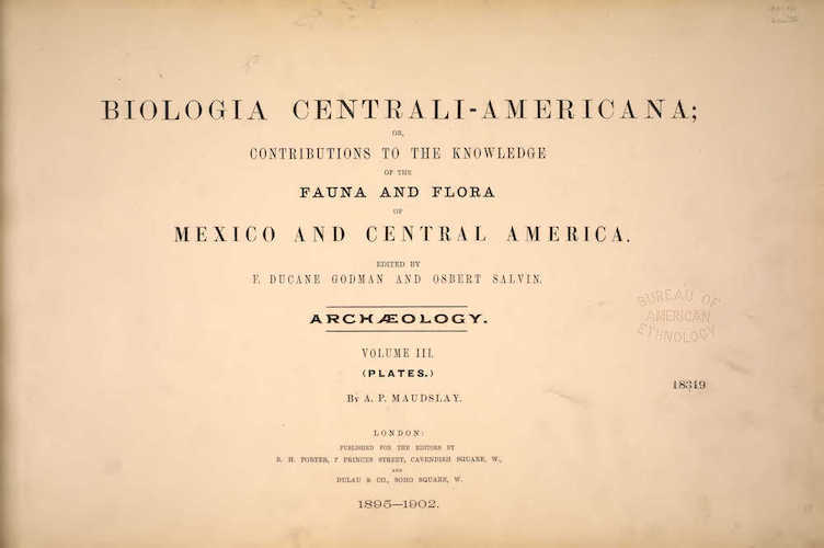 English - Biologia Centrali-Americana Atlas Vol. 3