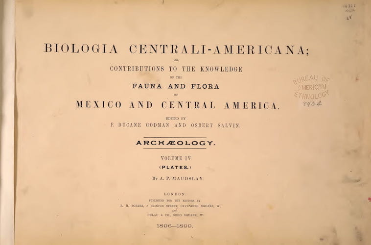 English - Biologia Centrali-Americana Atlas Vol. 4