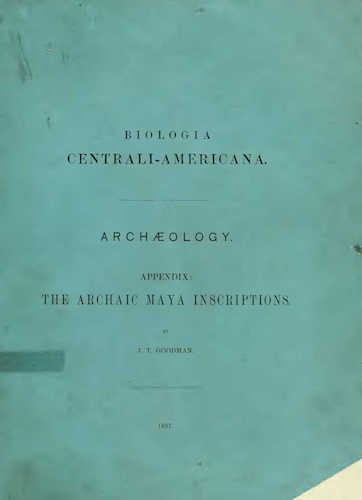 Archaeology - Biologia Centrali-Americana Vol. 2
