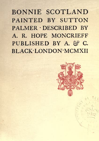 Bonnie Scotland Painted and Described - Title Page (1912)