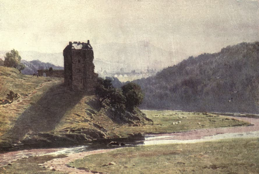 Bonnie Scotland Painted and Described - Neidpath Castle, Peeblesshire (1912)