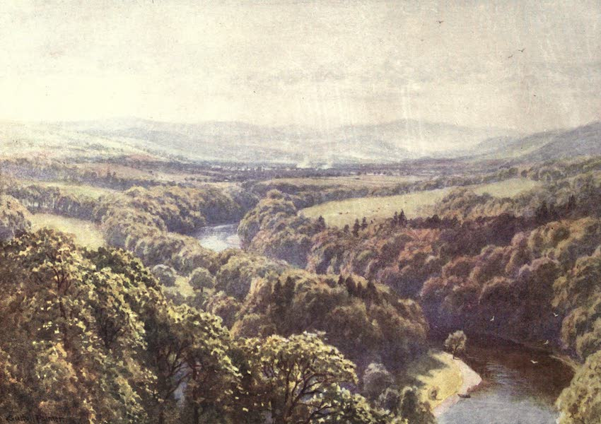 Bonnie Scotland Painted and Described - Scott's favourite View from Bemerside Hill, Roxburghshire (1912)