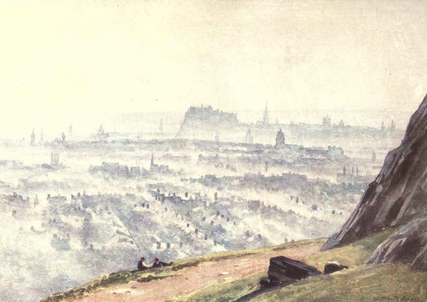 Bonnie Scotland Painted and Described - Edinburgh from Salisbury Crags—Evening (1912)