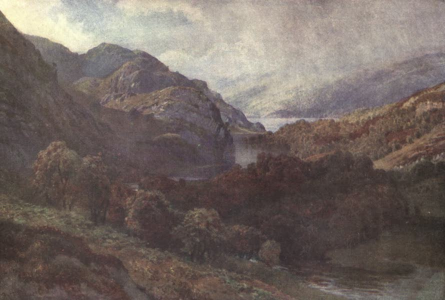 Bonnie Scotland Painted and Described - The Outflow of Loch Katrine, Perthshire (1912)