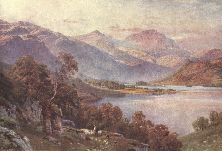 Bonnie Scotland Painted and Described - Head of Loch Lomond, looking up Glen Falloch, Perthshire (1912)