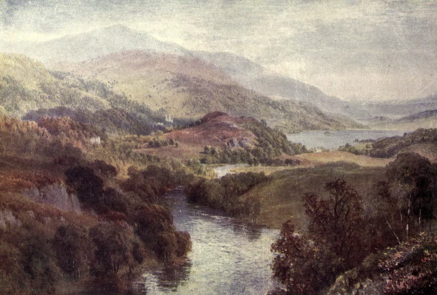 Bonnie Scotland Painted and Described - The River Teith, with Lochs Achray and Vennachar, Perthshire (1912)