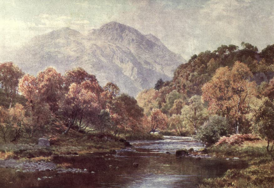 Bonnie Scotland Painted and Described - Veiled Sunshine, the Trossachs, Perthshire (1912)