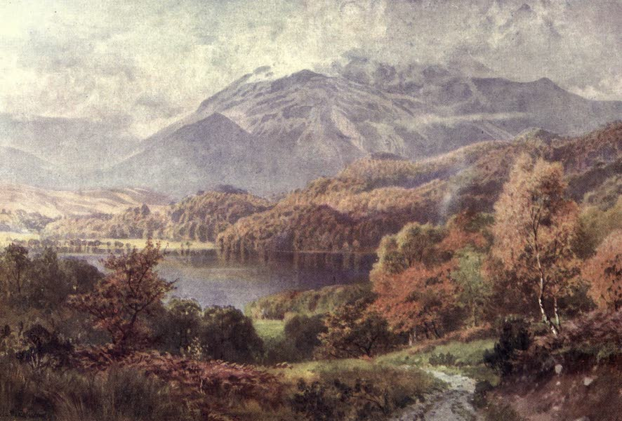 Bonnie Scotland Painted and Described - Loch Achray and Ben Venue, Perthshire (1912)