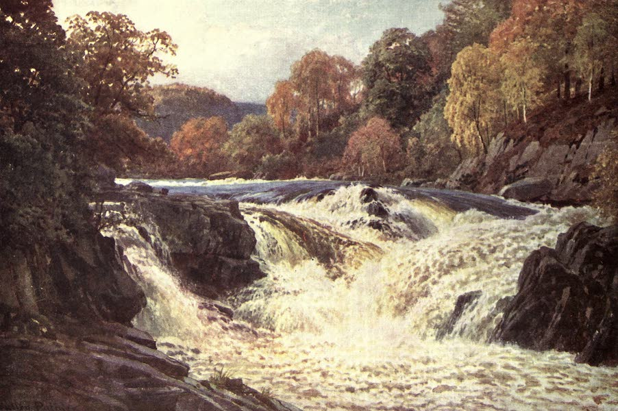 Bonnie Scotland Painted and Described - The Falls of Tummel, Perthshire (1912)