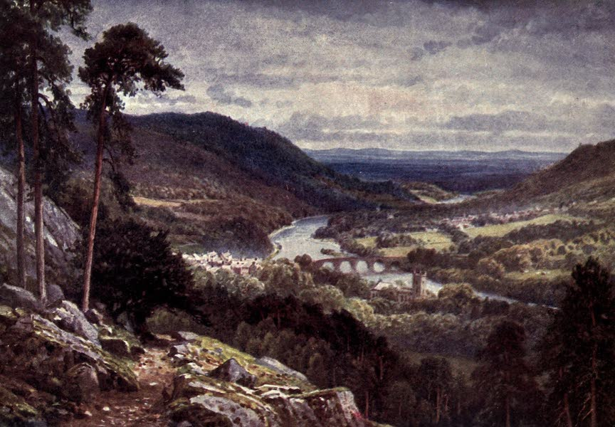 Bonnie Scotland Painted and Described - Dunkeld and Birnam from Craigiebarns, Perthshire (1912)