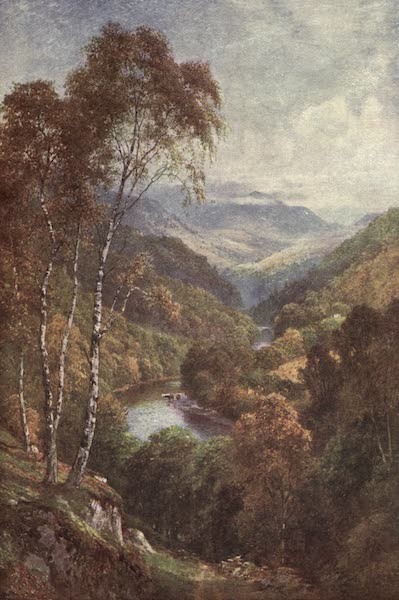 Bonnie Scotland Painted and Described - Looking up the Pass of Killiecrankie, Perthshire (1912)