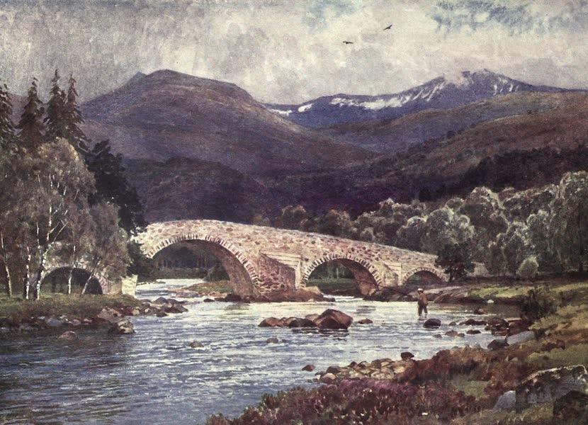 Bonnie Scotland Painted and Described - Old Mar Bridge and Lochnagar, Aberdeenshire (1912)
