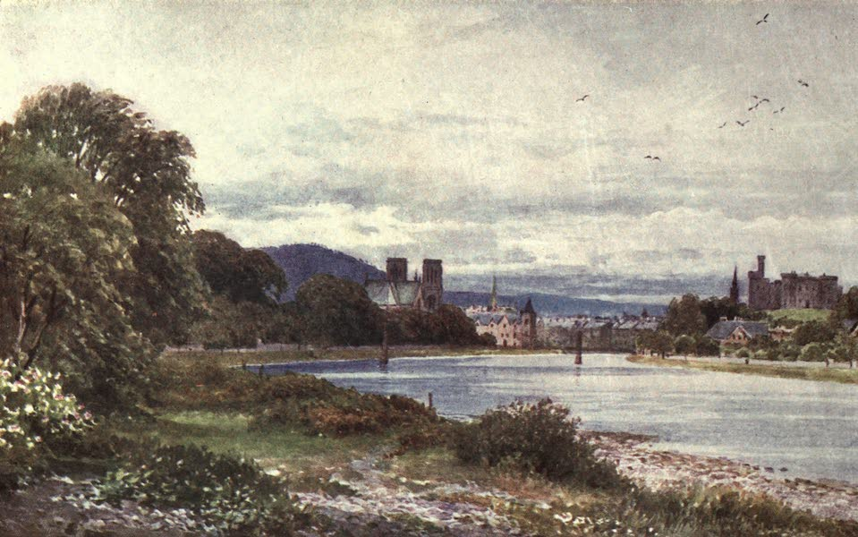 Bonnie Scotland Painted and Described - Inverness from near the Islands (1912)