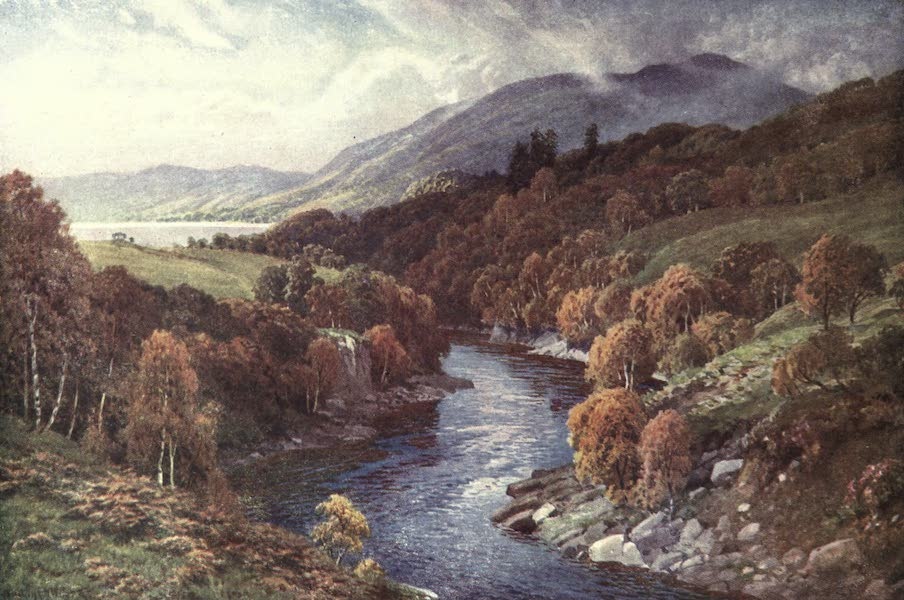 Bonnie Scotland Painted and Described - River Awe flowing to Loch Etive, Argyllshire (1912)