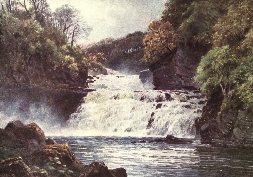 Bonnie Scotland Painted and Described - The Falls of the Clyde, Lanarkshire (1912)